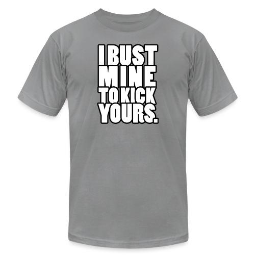 I Bust Mine Gym Motivation - Unisex Jersey T-Shirt by Bella + Canvas