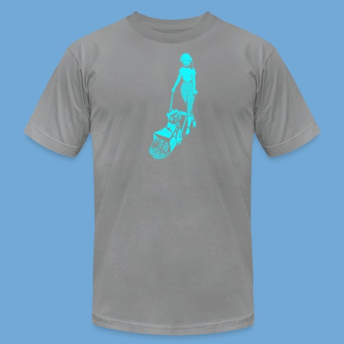 Roto-Hoe Cyan. - Men's Fine Jersey T-Shirt