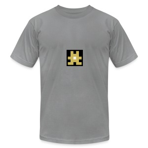 YELLOW hashtag - Men's Fine Jersey T-Shirt