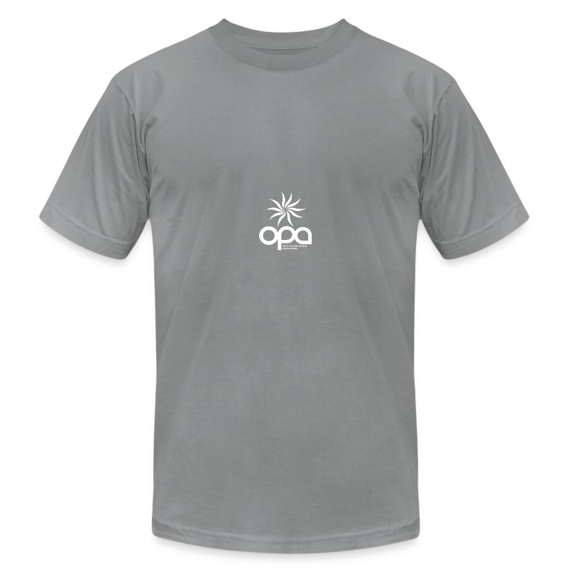 Short Sleeve T-Shirt with small all white OPA logo - Men's T-Shirt by American Apparel