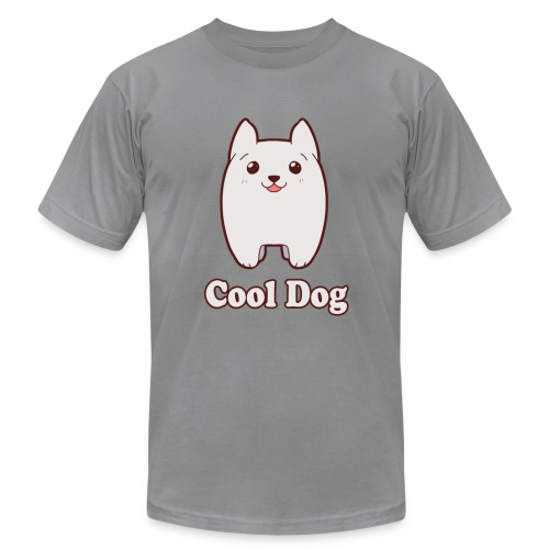 Cool Dog Fluffy Dog Logo - Men's Fine Jersey T-Shirt