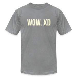 WOW. XD - Men's Fine Jersey T-Shirt