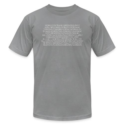 Jazz Greats 1 TShirt (White Lettering) - Men's Fine Jersey T-Shirt
