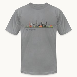 WORLD - MY PLAYGROUND - Carolyn Sandstrom - Men's T-Shirt by American Apparel