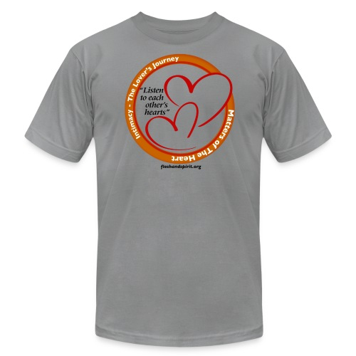 Matters of the Heart T-Shirt: Listen to each other - Men's Fine Jersey T-Shirt