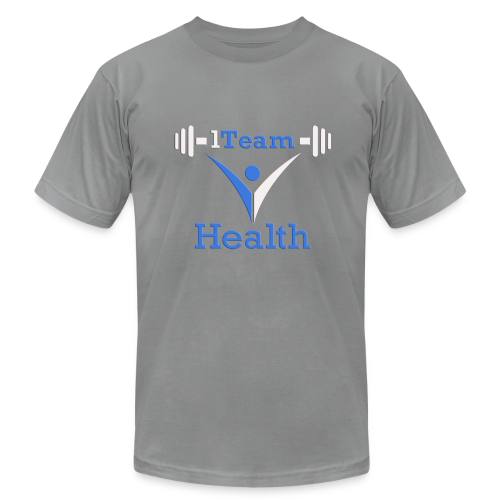 1TH - Blue and White - Men's Fine Jersey T-Shirt