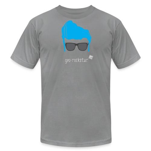 Geo Rockstar (him) - Men's Fine Jersey T-Shirt