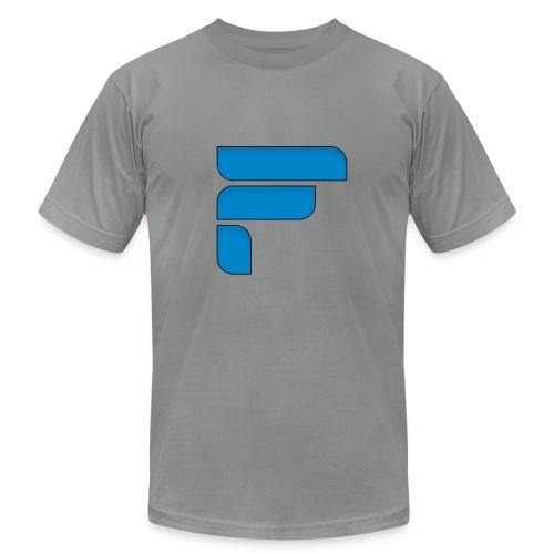 Frosty Blue Logo Center - Men's Fine Jersey T-Shirt