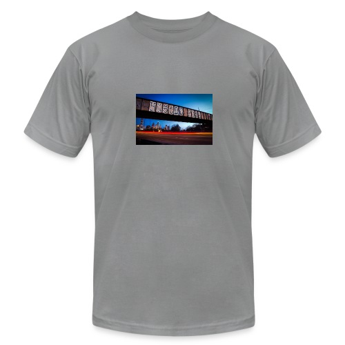 Husttle City Bridge - Men's Fine Jersey T-Shirt