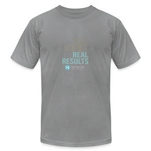 Real Science Real Results Nerium - Men's T-Shirt by American Apparel