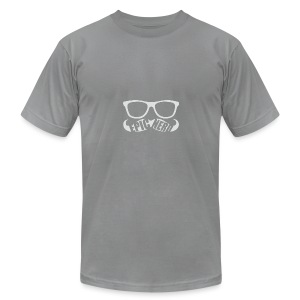 White Epic Nerd Logo - Men's T-Shirt by American Apparel