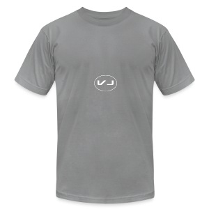 Vloggerjoe White circle lgo - Men's Fine Jersey T-Shirt
