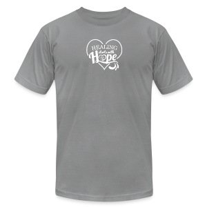 Healing with Hope - Men's T-Shirt by American Apparel
