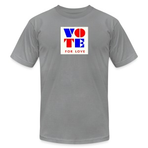 vote4love-sample - Men's T-Shirt by American Apparel