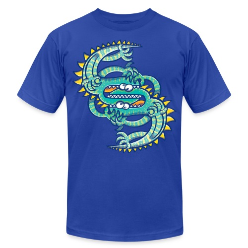 Two brave lizards facing off in a dangerous combat - Unisex Jersey T-Shirt by Bella + Canvas
