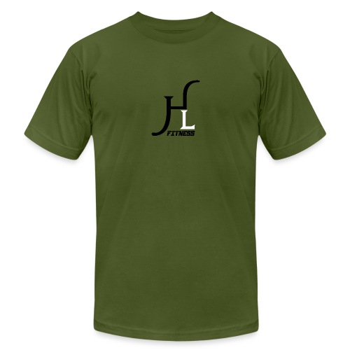 HIIT Life Fitness logo white - Men's Jersey T-Shirt