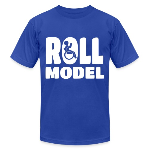 Wheelchair Roll model - Unisex Jersey T-Shirt by Bella + Canvas