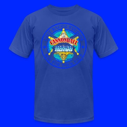 Vintage Cannonball Bingo Badge Blue - Men's  Jersey T-Shirt