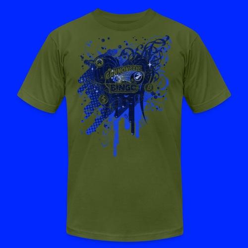 Vintage Cannonball Bingo Drip Blue - Men's  Jersey T-Shirt