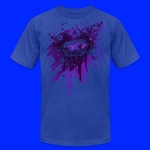 Vintage Cannonball Bingo Drip Purple - Men's Jersey T-Shirt
