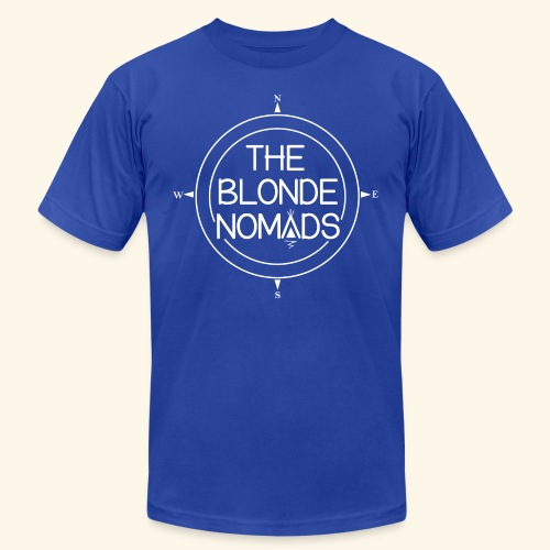 The Blonde Nomads logo WHITE - Unisex Jersey T-Shirt by Bella + Canvas
