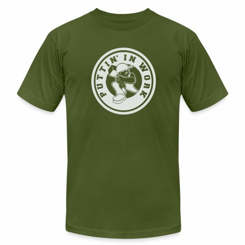 P.I.W White Logo - Unisex Jersey T-Shirt by Bella + Canvas