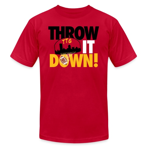 Throw it Down! (Turnover Dunk) - Unisex Jersey T-Shirt by Bella + Canvas