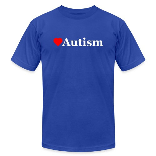 Heart Autism w - Unisex Jersey T-Shirt by Bella + Canvas