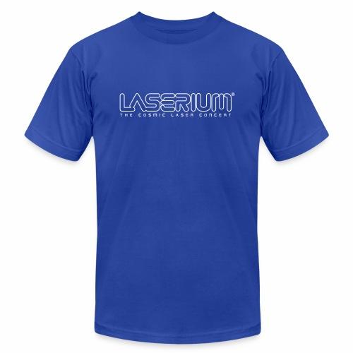 Laserium Logo OL White Tag - Unisex Jersey T-Shirt by Bella + Canvas