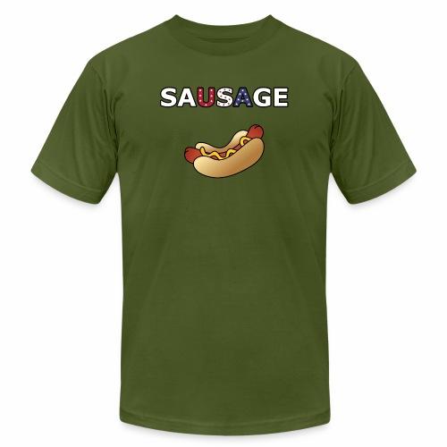 Patriotic BBQ Sausage - Men's  Jersey T-Shirt