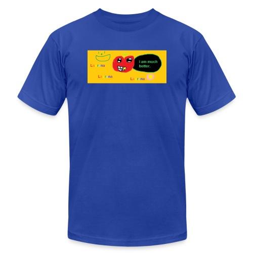 pechy vs apple - Unisex Jersey T-Shirt by Bella + Canvas