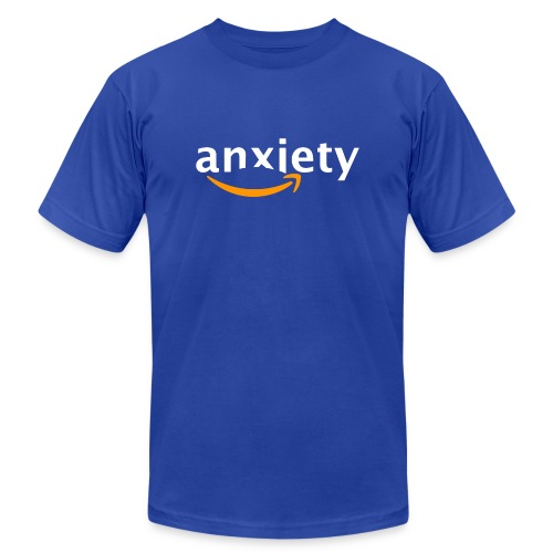 anxiety amazon logo - Unisex Jersey T-Shirt by Bella + Canvas
