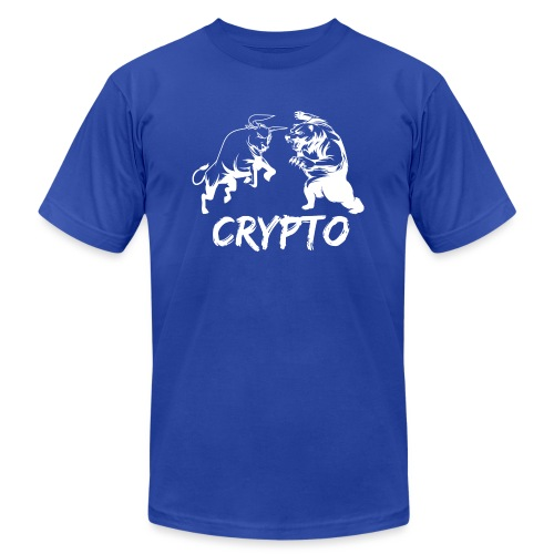 CryptoBattle White - Men's Jersey T-Shirt