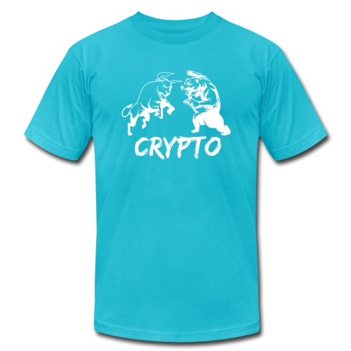 CryptoBattle White - Men's Jersey T-Shirt