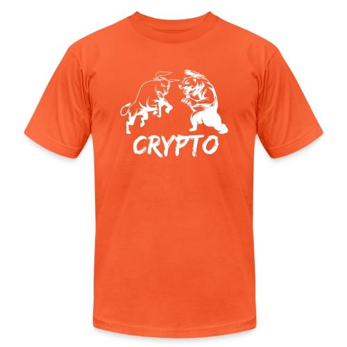 CryptoBattle White - Unisex Jersey T-Shirt by Bella + Canvas