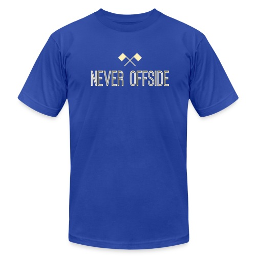 Never Offside - Unisex Jersey T-Shirt by Bella + Canvas