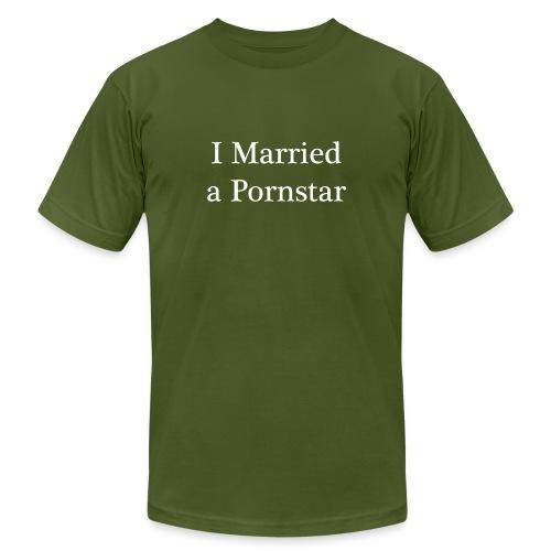 I Married a Pornstar - Men's Jersey T-Shirt