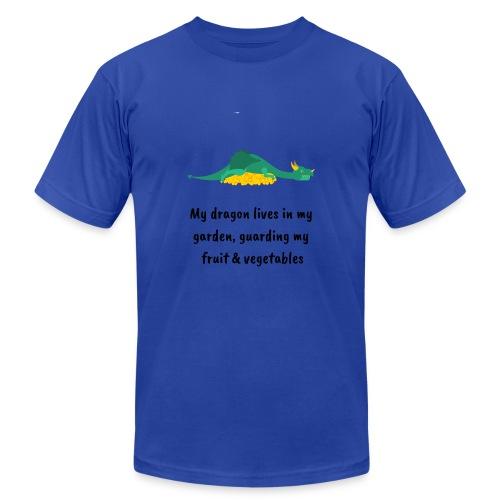 My dragon lives in my garden - Unisex Jersey T-Shirt by Bella + Canvas