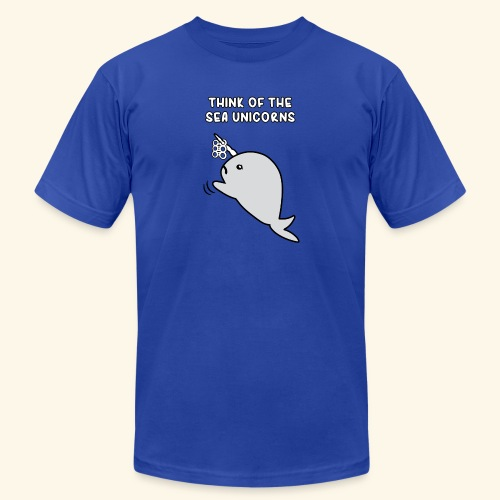Think of the Sea Unicorns - Unisex Jersey T-Shirt by Bella + Canvas