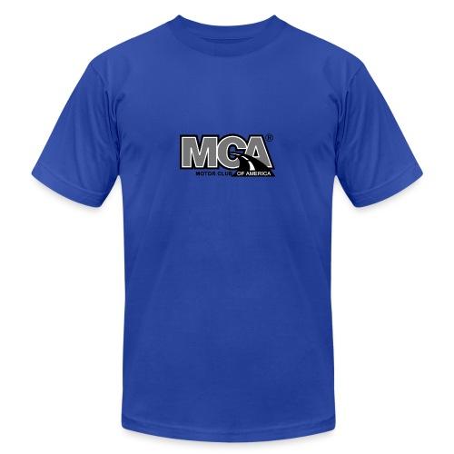 MCA Logo WBG Transparent BLACK WHITE TITLEfw fw pn - Unisex Jersey T-Shirt by Bella + Canvas