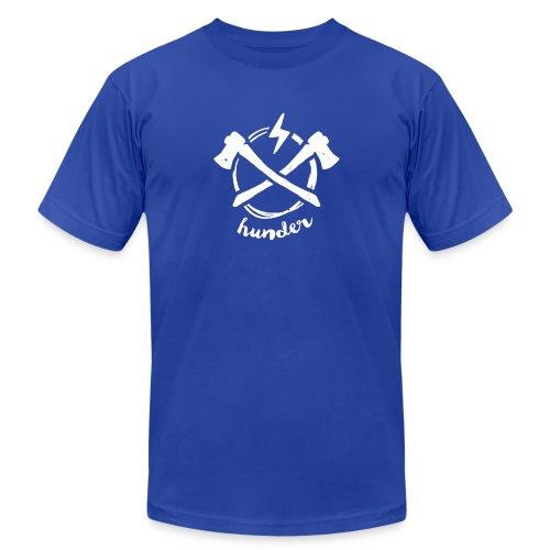 woodchipper back - Unisex Jersey T-Shirt by Bella + Canvas