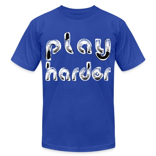 playharder - Unisex Jersey T-Shirt by Bella + Canvas