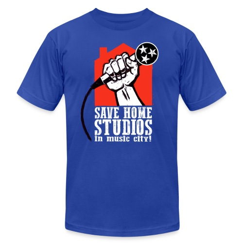 Save Home Studios In Music City - Men's Fine Jersey T-Shirt