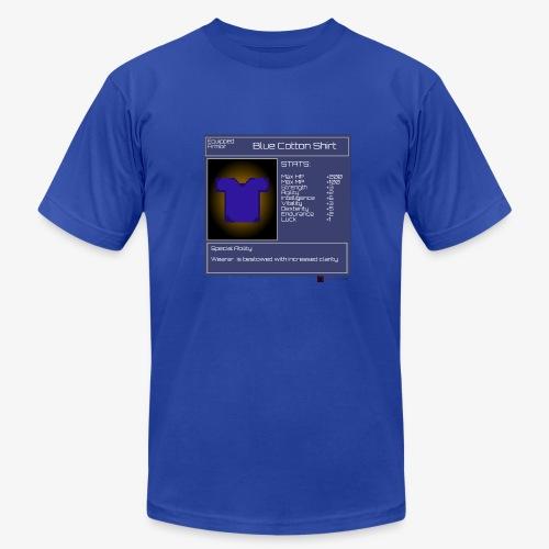 Gamer StatGear Blue Cotton Shirt - Men's Fine Jersey T-Shirt