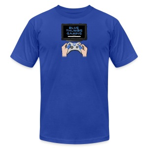 Blue Thumbs Gaming: Gamepad Logo - Men's T-Shirt by American Apparel