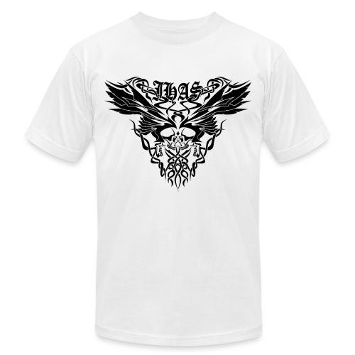 Vintage JHAS Tribal Skull Wings Illustration - Men's Jersey T-Shirt