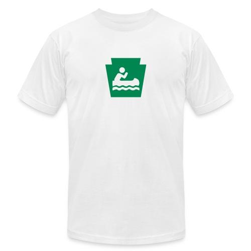 Pennsylvania Keystone Boater PA - Unisex Jersey T-Shirt by Bella + Canvas