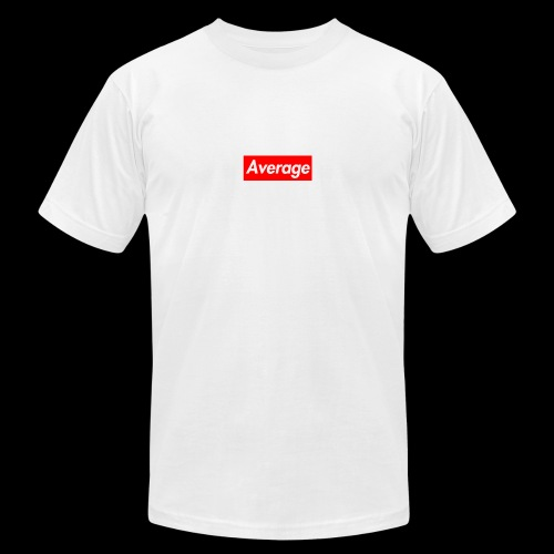 Average Supreme Logo Mockup - Unisex Jersey T-Shirt by Bella + Canvas