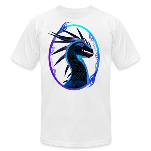 Horned Black Dragon framed - Unisex Jersey T-Shirt by Bella + Canvas