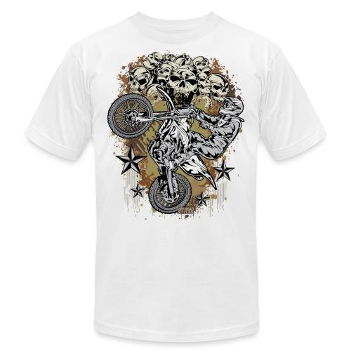 Motocross Mud Skulls - Unisex Jersey T-Shirt by Bella + Canvas